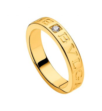 Anello BULGARI BULGARI  in oro giallo 18 kt con diamante